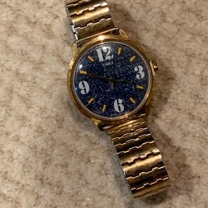Vintage Timex Neat Denim Style Face Wind Watch